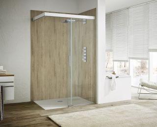 Barrierefreie Dusche mit Wandpaneel