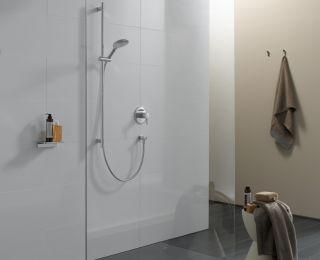 Barrierefreie Duschfläche m. Punktablauf